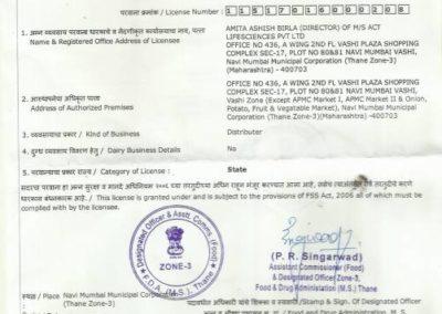 Dr Amita Birla's Certificates